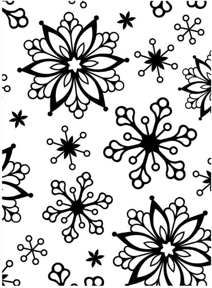 Darice Embossing Folder 4.25 Background 5.75-Inch X Fixed price for unisex sale Snowflake