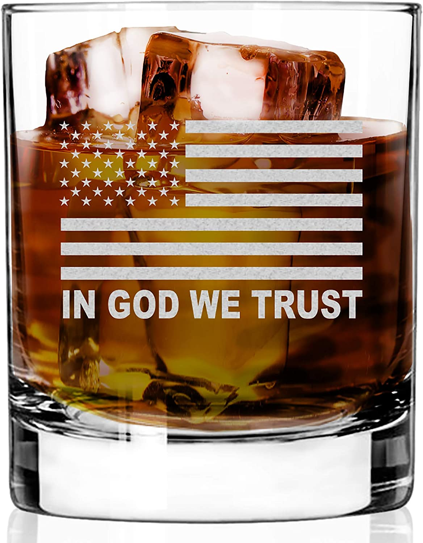 WHISKEY GLASS IN GOD WE RESTAURANT HEAVY TRUST QUALITY CHIP Many ...
