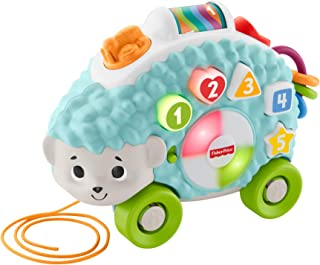 Fisher-Price Linkimals Happy Shapes Hedgehog - Juguete educativo interactivo con música y luces para bebés de 9 meses y más, multicolor