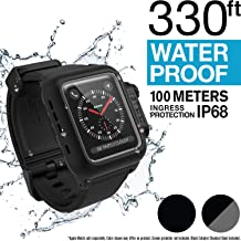 Catalyst Waterproof Apple Watch Case 42mm Series 2 & 3 with Premium Soft Silicone Apple Watch Band, Shock Proof Impact Resistant [Rugged iWatch Protective case], Stealth Black