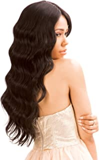 New Born Free Human Hair Blend Lace Front Wig Magic Lace U-Shape Lace Wig MLUH94 (1B) …