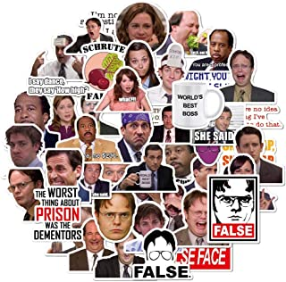 Random Sticker Bomb Pack Adults of 50 Pcs The Office Stickers Bomb for Laptops The Office Laptop Stickers,Waterproof Funny...
