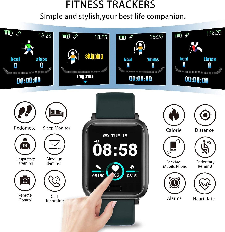 miniature 9 - Smart Watch Fitness Tracker BP fréquence cardiaque étape Calorie Sommeil Moniteur Étanche