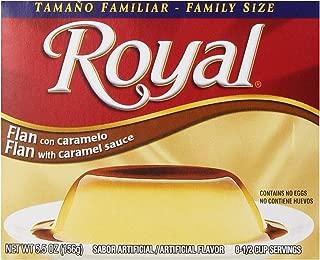 Royal Bilingual Flan Dessert Mix, Caramel Sauce, Family Size, Fat Free (12 - 5.5 oz Boxes)