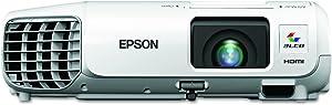 Epson V11H694020 PowerLite S27 SVGA 3LCD Projector 2700 Lumens 800 x 600 Pixels 1.35x Zoom White