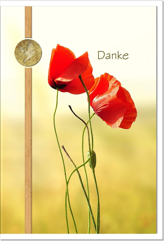 MetALUm Danksagungskarten Danksagungskarten Danksagungskarten TRAUER   Mohn   25 Karten   1525002S B00JBPTVX2 | Rich-pünktliche Lieferung  6418e8