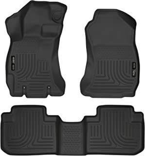 Husky Liners 99881 Black Weatherbeater Front & 2nd Seat Floor Liners Fits 2014-2018 Subaru Forester