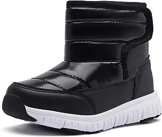 أحذية ثلج للأولاد من GUBARUN أحذية الشتاء مقاومة للماء والانزلاق للطقس البارد (الأطفال الصغار/الأطفال الكبار)