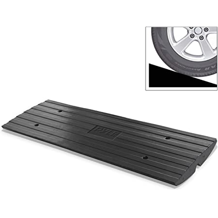 Parking Mall Supermarket Slope Pad Kerb Ramps Bicycle Motorcycle Triangle Pad Driveway Threshold Ramp Color : Black, Size : 49.526.813.5CM AMYAL Curb Ramp Plastic Step Mat