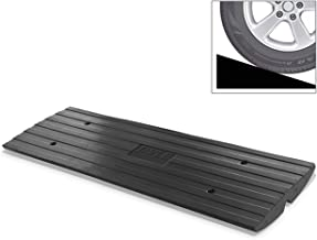 Car Driveway Curb Ramp - Heavy Duty Rubber Threshold Ramp - Also for Loading Dock, Garage, Sidewalk, Truck, Scooter, Bike, Motorcycle, Wheelchair Mobility & Other Vehicle - Pyle PCRBDR24