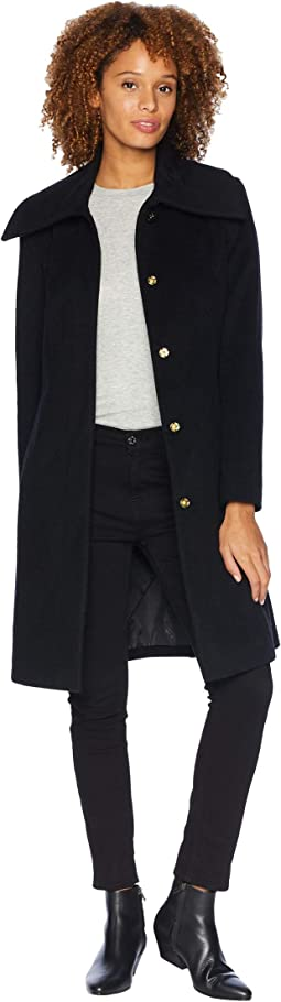 Slick Wool Classic Snap Front Coat
