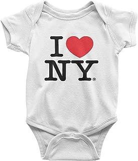 I Love NY New York Baby Infant Screen Printed Heart Bodysuit White