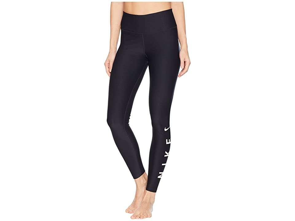 Nike Power 7/8 HBR Graphic Tights (Black/White) Women