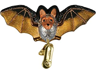 Old World Christmas Ornaments: Clip-On Bat Glass Blown Ornaments for Christmas Tree