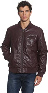 Best burgundy quilted leather jacket Reviews