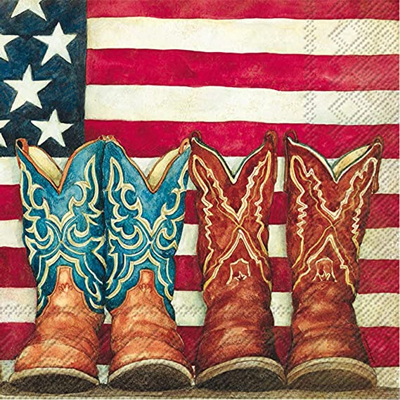 Cowboy Boot Patriotic 4th of July Flag centerpiecedecoration