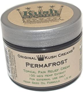 Kush Creams - Permafrost - Emu Oil & Hemp Oil Infused with 30+ Herbal Ingredients - Topical Pain Relief Cream with Aromatherapy - Award Winning - Doctor Recommended - Lab Tested - 1.5 oz Jar