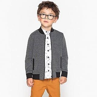 La Redoute Collections Boys Crew Neck Zip-Up Sweatshirt, 3-12 Years