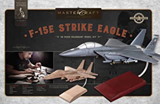 Mastercraft Boeing F-15E Strike Eagle DIY Mahogany Wood Model Kit 1:42 Scale