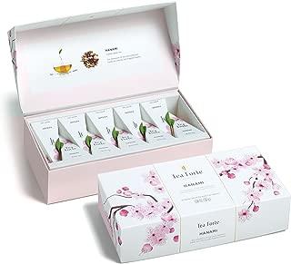 Tea Forte Petite Presentation Box Tea Samplers, Assorted Variety Tea Box, 10 Handcrafted Pyramid Tea Infusers, Hanami