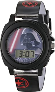 Star Wars Kids' DAR3517 Darth Vader Talking Watch With Black Rubber Band