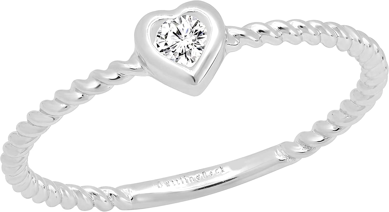 Max 67% OFF Dazzlingrock Collection 0.08 Carat ctw Grown Round White D Max 41% OFF Lab