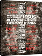 Innopics Christian Cross Canvas Wall Art Bible Words Poster Print Decor Christ Religion Prayer Quotes God Jesus Love Picture Painting Wood Framed Artwork for Home Office Living Room Church Decoration