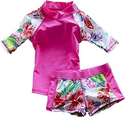 27218497cca7a Baby Toddler Girls  Two Piece Swimsuits Set Kid Swimwear Bathing Suit Rash  Guard Sets UPF