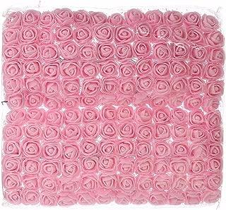 Rose DIY 144 PCS head pink flowers Artificial Flowers Wedding Bride Bouquet PE Foam DIY party festival Home Decor Garland Wreaths Flowers (light pink)