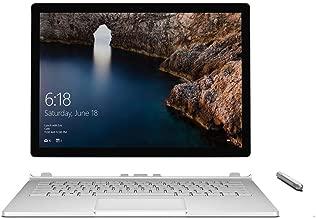 Microsoft Surface Book PA9-00001 13.5-Inch Multi-Touch 2-in-1 Notebook (Intel Core i7-6600U Dual-Core, 16GB RAM, 1 TB Hard Drive,Windows 10 Pro), Silver (Renewed)