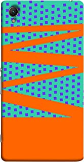 Color King Sony Xperia Z1 Case Shell Cover- Zigzag, Multi Color