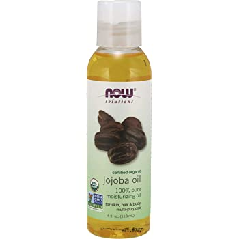 Now Solutions, Organic Jojoba Oil, Moisturizing Multi-Purpose Oil for Face, Hair and Body, 4 Fl Oz