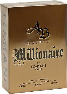 AB Spirit Millionaire By LOMNI Cologne for Men 3.3oz / 100ml EDT Spray