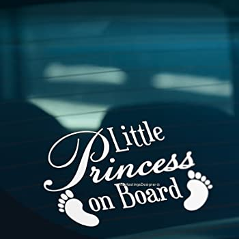 2Pcs Baby On Board Baby Child Window Bumper Car Sign Decal Sticker Black 15CM UK