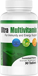 Ultra Multivitamin by GL Nutrition | Complete Daily Multivitamin Formula for Men & Women 50 | 67 All-Natural Ingredients t...