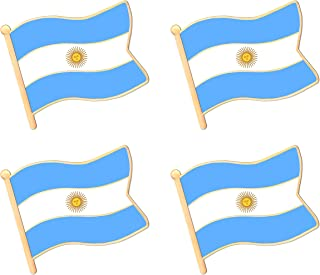 ALEY Argentina Argentine Flag Lapel Pin Decorations (4 Pack)