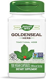 Nature's Way Premium Herbal Goldenseal Herb, 800 mg per serving, 100 Capsules