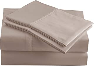 Casa Platino 100% Organic Cotton Sheets Set, Pure Organic Cotton Long- Staple Percale Weave Ultra Soft Best- Bedding Sheet...