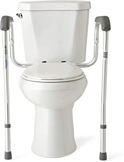 Medline Toilet Safety Rails, Safety Frame for Toilet with Easy Installation, Height..