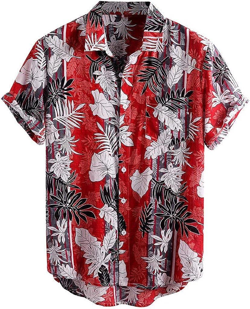 ZSBAYU Funky Hawaiian Shirt | Men Shirts | Short-Sleeve Floral | Front-Pocket | Multiple Colours | Hawaiian Print Tops
