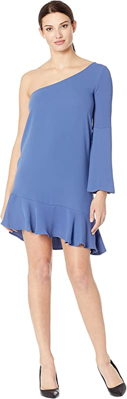 Betty One Shoulder Ruffle Dress