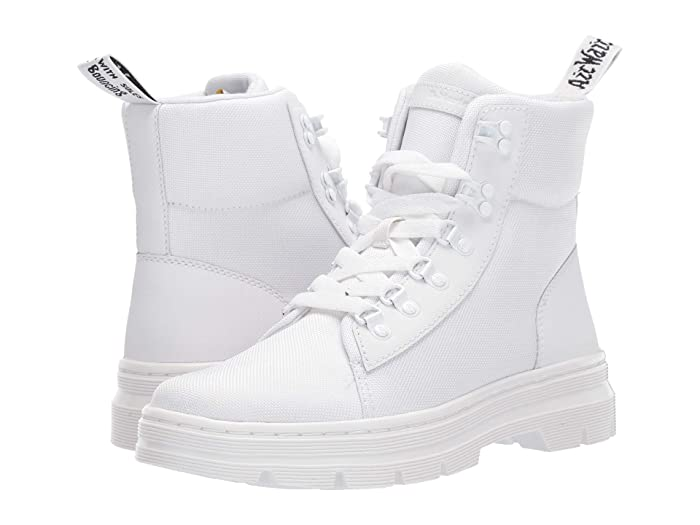 Dr. Martens  Combs Tract (White/White Ajax/Extra Tough Nylon) Womens Shoes