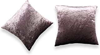 Pack of 2 Crushed Velvet Throw Pillow Covers - Soft Soild Decorative Cases for Couch Sofa Home...