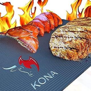 Tapis pour gril Barbecue KONA - Plaques ultra-résistantes et antiadhésives supportant 600 degrés (lot de 2) - Garantie 7 ans