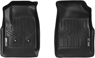 SMARTLINER Custom Fit Floor Mats 1st Row Liner Set Black for 2015-2019 Chevy Colorado/GMC Canyon - All Models