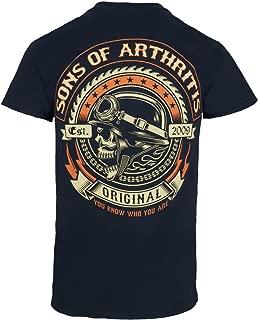 Mens Screamer Black Biker T-Shirt
