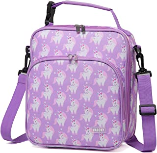 Lunch Boxes Bag for Girls,VASCHY Reusable Lunch Box Containers for Boys and Girls with Detachable Shoulder Strap, Insulated Lunch Coolers for School Cute Unicorn