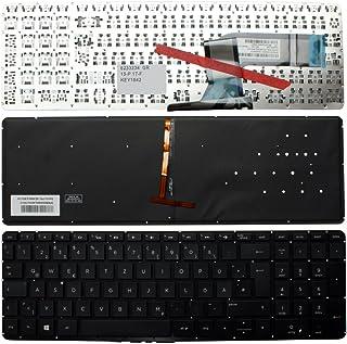 Keyboards4Laptops Alemán Retroiluminada Negro Windows 8 Teclado de Repuesto para Ordenador portátil Compatible con HP Pavilion 17-f204ns