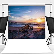 Sunrise Over a Life Guard Tower in st Theme Backdrop Photography Backdrop for Pictures,Augustine,6.5x10ft