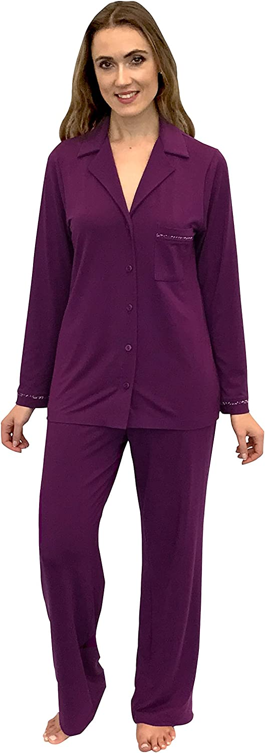 Shadowline Before Bed Collection Women's Modal Notched Collar Pajama Set